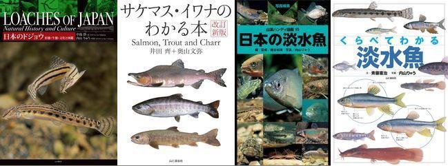【メインビジュアル】日本のドジョウ、サケマスイワナ、淡水魚