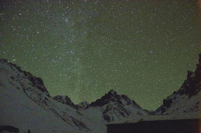 深夜に撮影したロナークの星空
