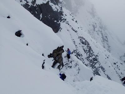 ブロークン氷河の最後の下降